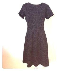 LOFT fit and flare Black Dress